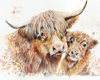 Isobel's Bairn Limited Edition Print by Lesley Palmer