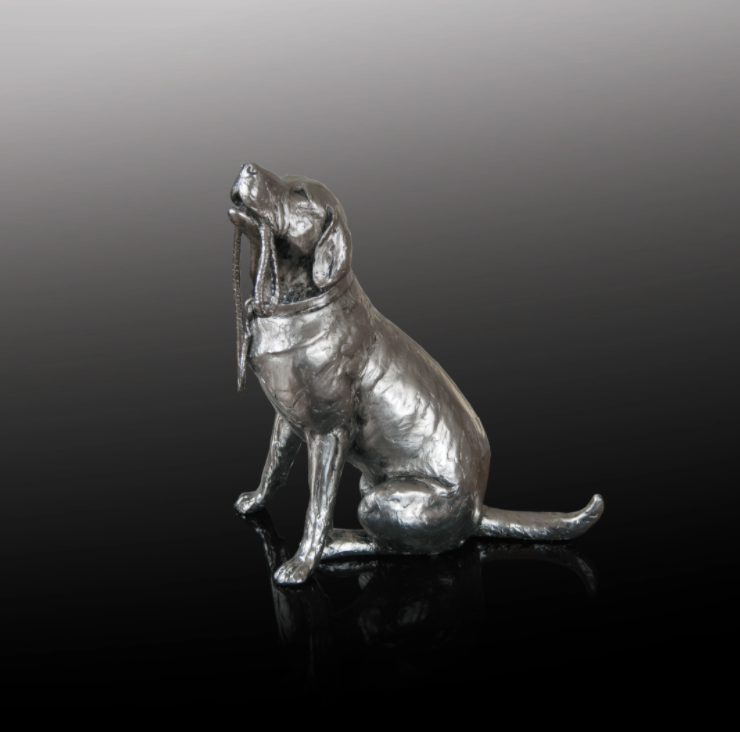 Labrador nickel resin sculpture from Richard Cooper Studio