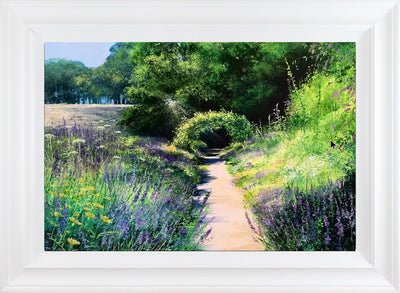 Lavender Walk limited edition print by Heather Howe