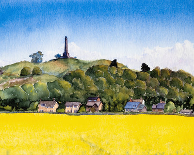 Lilleshall Hill Summer print by Sue Payton