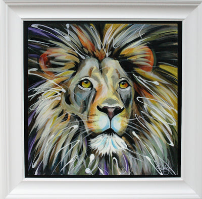Lion limited edition print by Susan B Leigh
