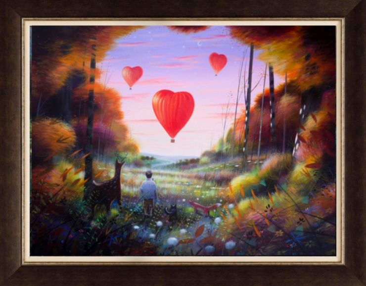 Love Is In The Air framed print by Sara Otter