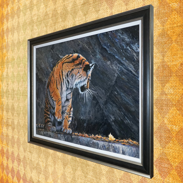Mesmerized original painting perspective by Sue Payton