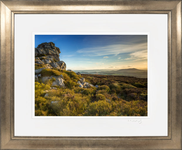 Devil's Chair Stiperstones Print by Lindsey Bucknor Bronze Frame