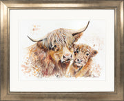 Isobel's Bairn Limited Edition Print by Lesley Palmer Bronze Frame