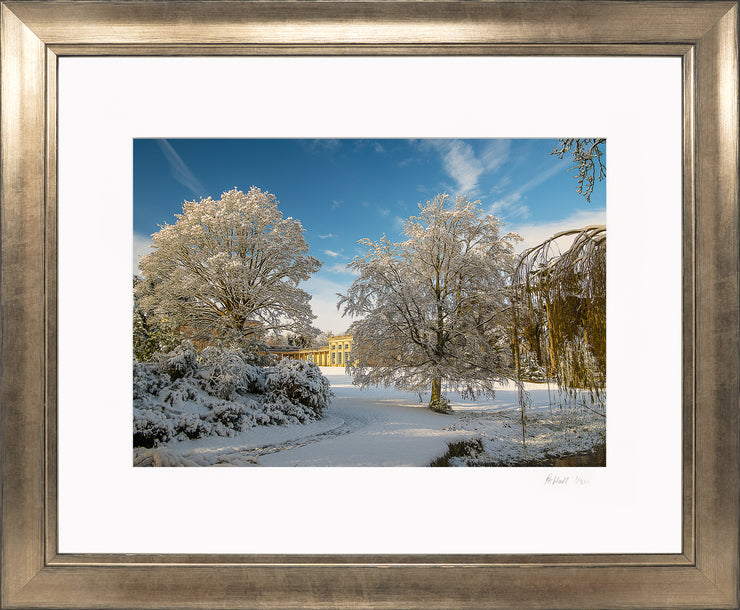 A Wintry Attingham Limited Edition Print by Rob Hall Bronze Frame