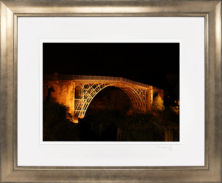 Ironbridge at Night Print by Lindsey Bucknor Bronze Frame