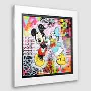 Mickey and Donald limited edition print by Caution