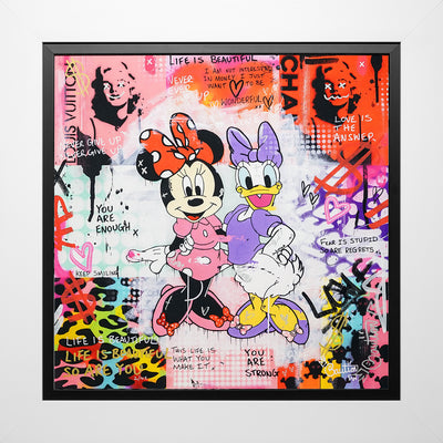 Minnie and Daisy limited edition print by Caution
