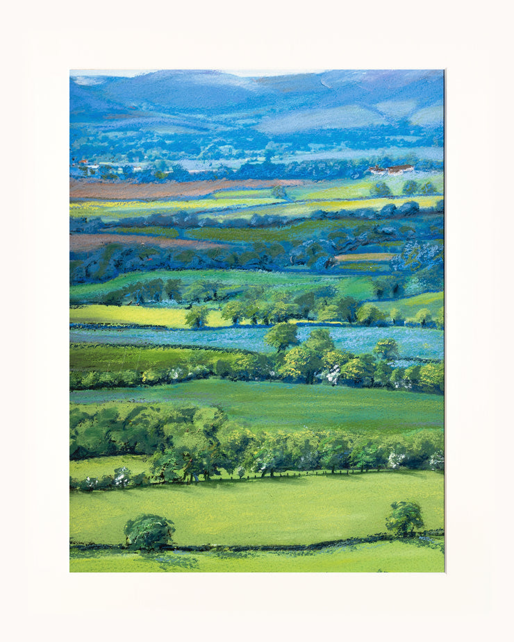 View from Wenlock Edge print by Sue Payton