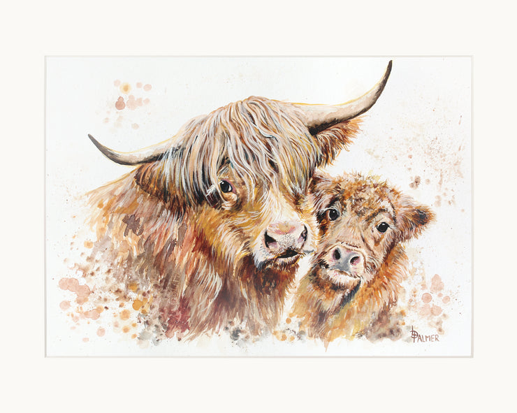 Isobel's Bairn limited edition print by Lesley Palmer Mounted