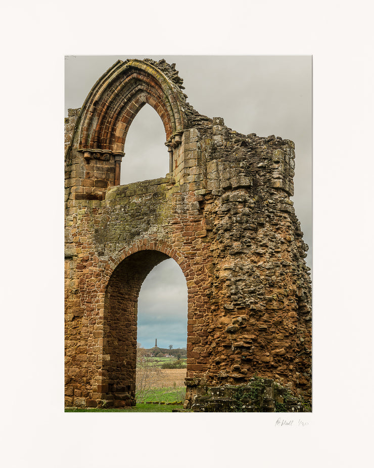 Lilleshall Abbey & Monument Limited Edition Print by Rob Hall