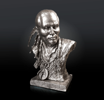 Native Spirit nickel resin sculpture from Richard Cooper Studio