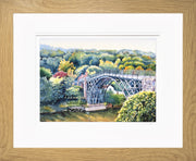 Ironbridge Shropshire Limited Edition Print by Sue Payton Oak