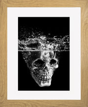 Splash Limited Edition Print by Neil Murray Oak Frame