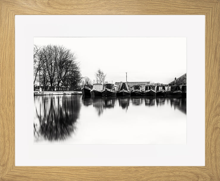 Still Limited Edition Print by Neil Murray Oak Frame