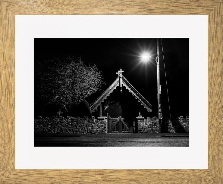 The Gate Limited Edition Print by Neil Murray Oak Frame