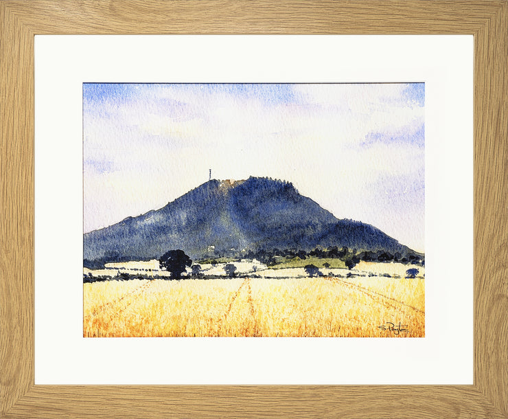 The Wrekin Shropshire Print by Sue Payton Oak Frame