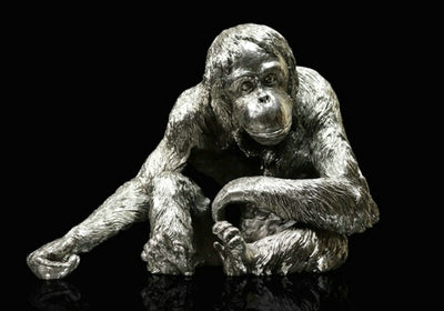 Orangutan nickel resin sculpture from Richard Cooper Studio