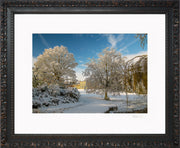 A Wintry Attingham Limited Edition Print by Rob Hall Ornate Black Frame