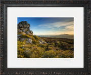 Devil's Chair Stiperstones Print by Lindsey Bucknor Ornate Black Frame