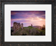 Clun Castle at Dawn Print by Lindsey Bucknor Ornate Black Frame