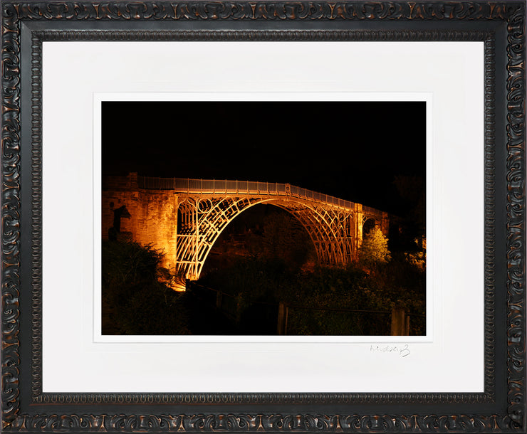 Ironbridge at Night Print by Lindsey Bucknor Ornate Frame