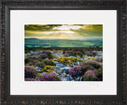 Stiperstones Sunset Print by Lindsey Bucknor Ornate Black Frame