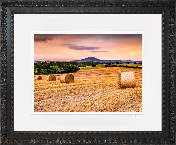 Wrekin Sunset Print by Lindsey Bucknor Ornate Black Frame