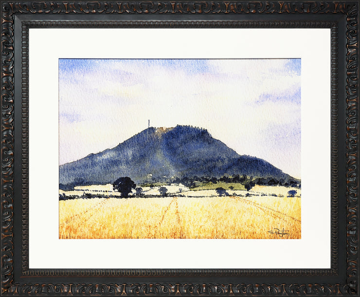 The Wrekin Shropshire Print by Sue Payton Ornate Black Frame