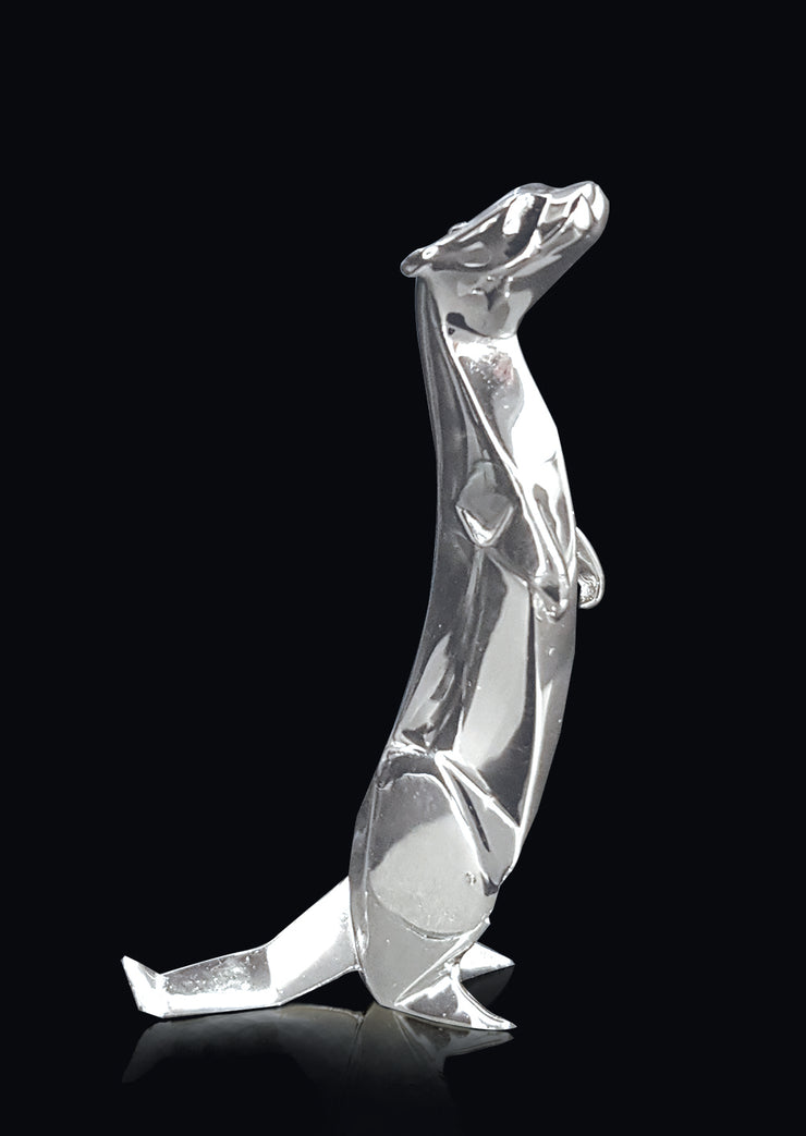Otter Sterling Silver Origami Sculpture by Sophie Mackrell
