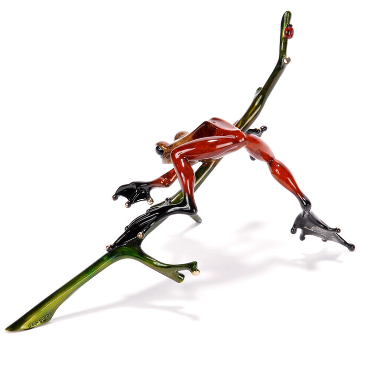 Out on a Limb Limited Edition Bronze Sculpture by Tim Cotterill Frogman