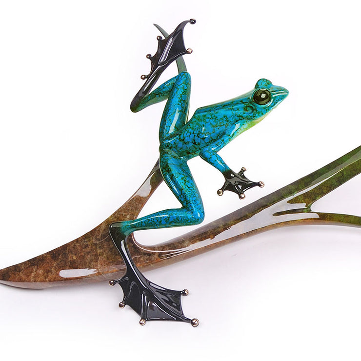 Papillon Limited Edition Bronze Sculpture by Tim Cotterill Frogman