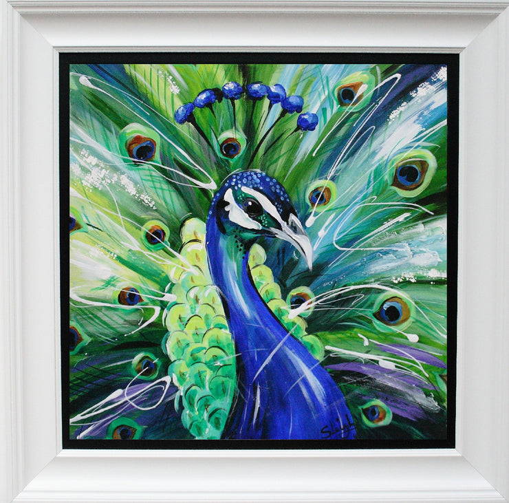 Peacock limited edition print by Susan B Leigh