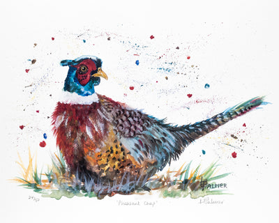 Pheasant Chap Limited Edition Print by Lesley Palmer