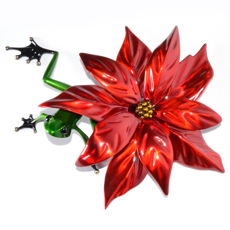 Poinsettia Bronze Sculpture by Tim Cotterill Frogman