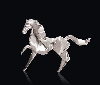 Pony Sterling Silver Origami Sculpture by Sophie Mackrell