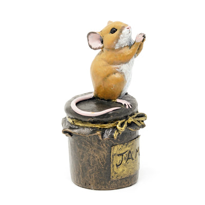 Mouse on Jam Jar by Michael Simpson