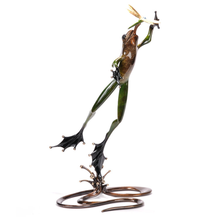 Quantum Leap Limited Edition Bronze Sculpture by Tim Cotterill Frogman