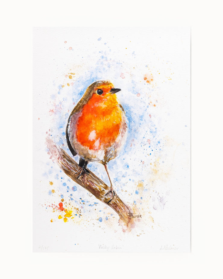 Rocky Robin Limited Edition Print by Lesley Palmer