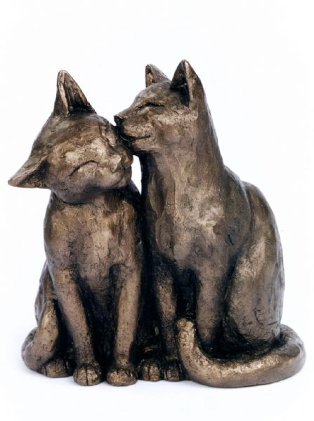 Yum Yum and Friend bronze by Frith Sculpture