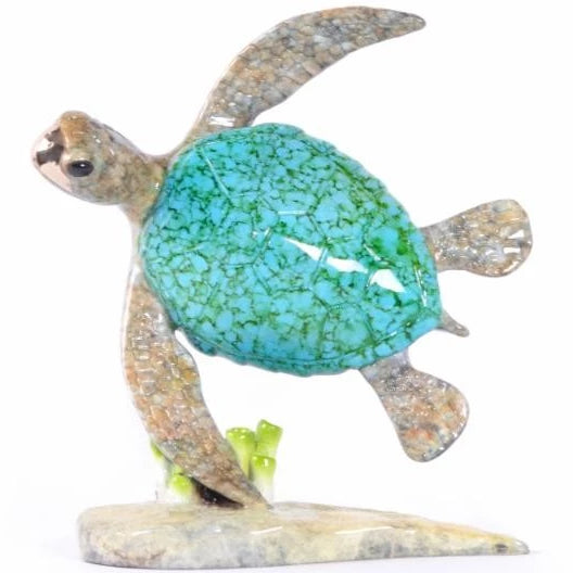 Sailor Bronze Sea Turtle Sculpture by Chris Barela