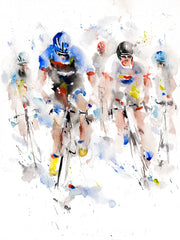 Sprint Finish limited edition print by Roger Simpson