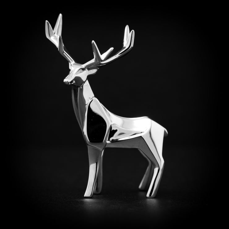Stag Sterling Silver Origami Sculpture by Sophie Mackrell