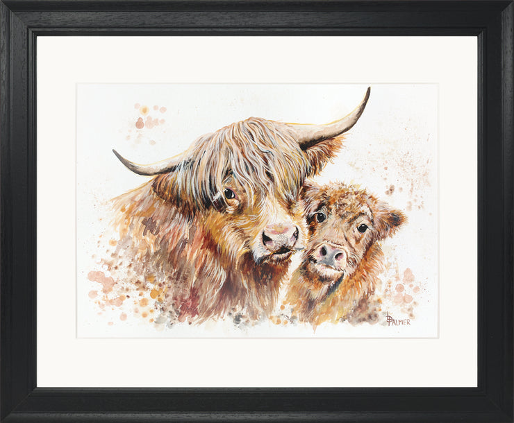 Isobel's Bairn Limited Edition Print by Lesley Palmer Black Frame