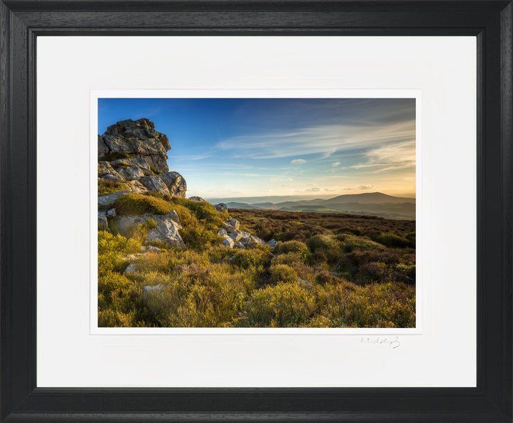 Devil's Chair Stiperstones Print by Lindsey Bucknor Black Frame