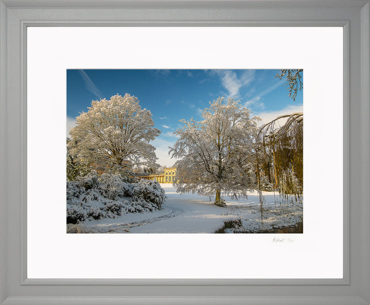 A Wintry Attingham Limited Edition Print by Rob Hall Grey Frame