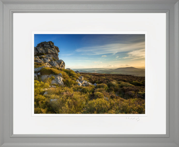 Devil's Chair Stiperstones Print by Lindsey Bucknor Grey Frame