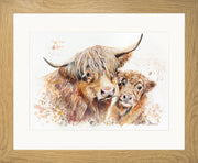 Isobel's Bairn Limited Edition Print by Lesley Palmer Oak Frame
