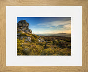 Devil's Chair Stiperstones Print by Lindsey Bucknor Oak Frame